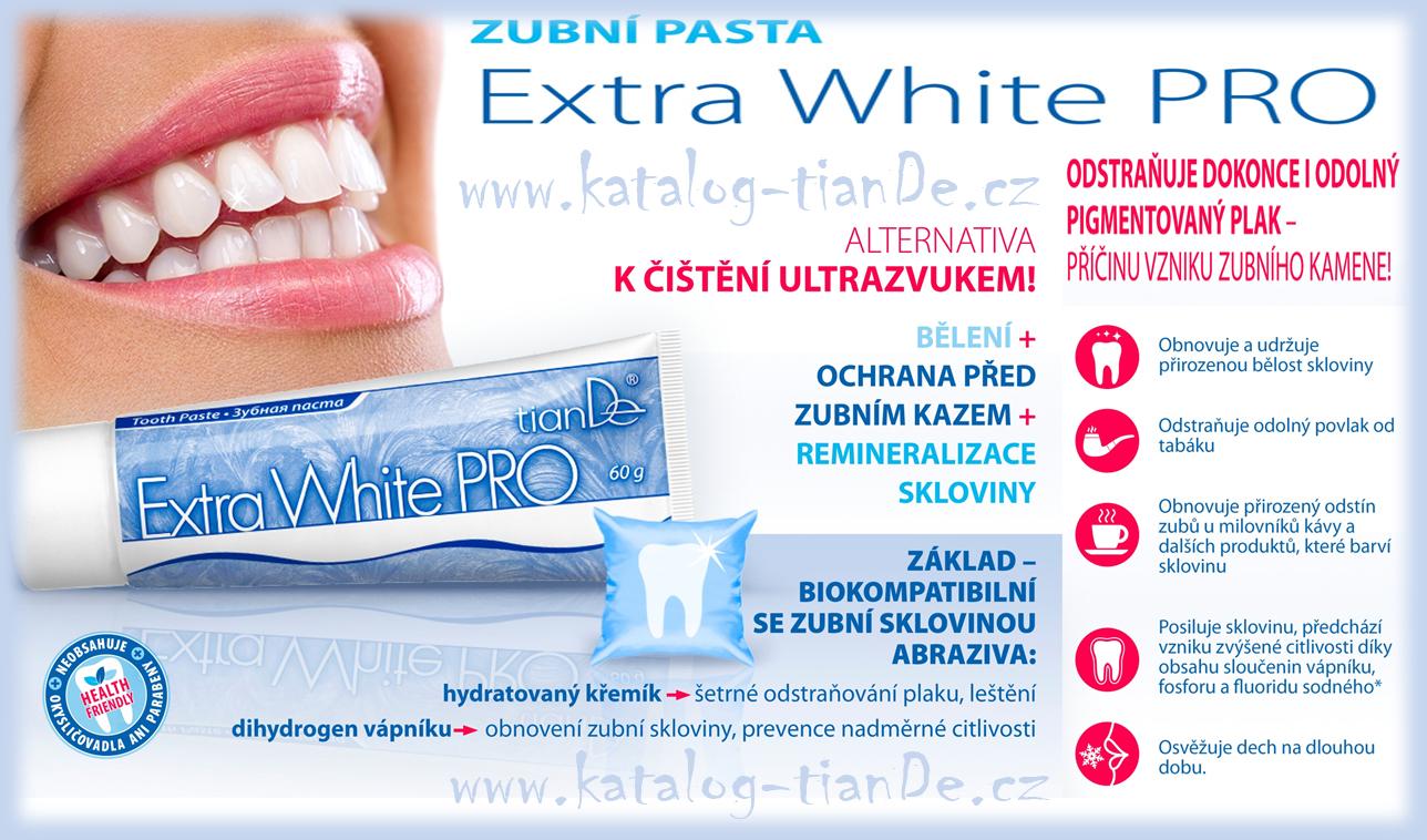 Zubní pasta Extra White Pro tianDe